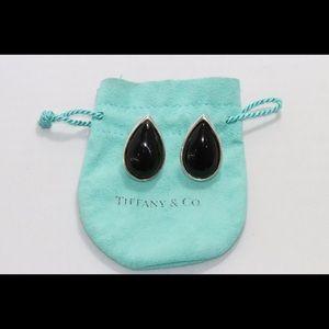 Tiffany & Co. Sterling Silver Black Onyx Earrings